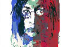 Armin Mueller-Stahl, Tribute to John Lennon, blau-rot