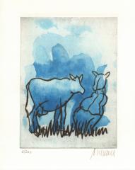 Armin Mueller-Stahl, Blaue Kuh auf der Weide