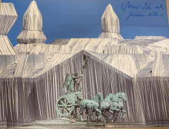 Christo & Jeanne- Claude,Reichstag mit Quadriga
