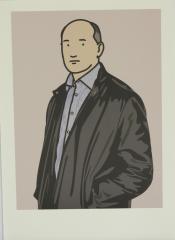 Julian Opie,  Ashley with leather jacket