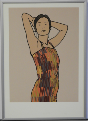 Julian Opie, Anya with cocktail dress