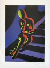 Mark Kostabibl, stairway blau