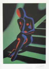 Mark Kostabi, stairway grün