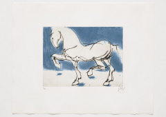 Markus Lüpertz, o.T., Troja, blau