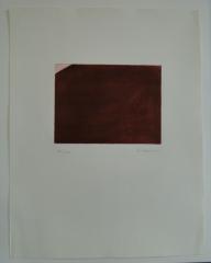 Arnulf Rainer; o.T. rotbraun