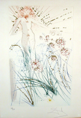 Salvador Dalí, der Geliebte weidet zwischen den Lilien