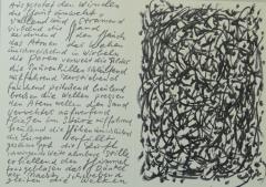 Günther Uecker, Siebdruck mit Text